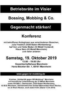 """6. bundesweite Konferenz: """"Betriebsräte im Visier"""""""
