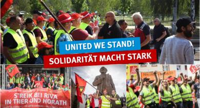 Streik bei RIVA/H.E.S. in Trier und Horath
