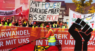 RIVA-Streik in der 20. Woche: Einen Finger kann man brechen, 5 Finger sind eine Faust