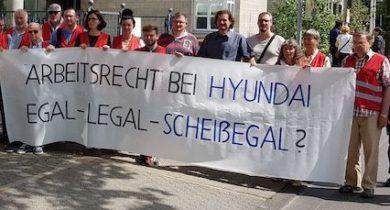 Union Busting bei HYUNDAI: Solidarität zeigen, Betriebsrat stärken